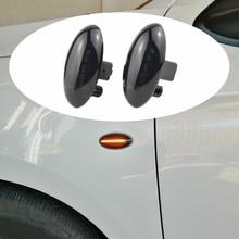 2pcs Led Dynamic Turn Signal Side Marker Light Sequential Blinker Light For Peugeot 307 206 207 407 107 607 For Citroen C1 C2 C3 led dynamic turn signal side marker light sequential blinker light for peugeot 307 206 207 407 107 607 for citroen c1 c2 c3 c5