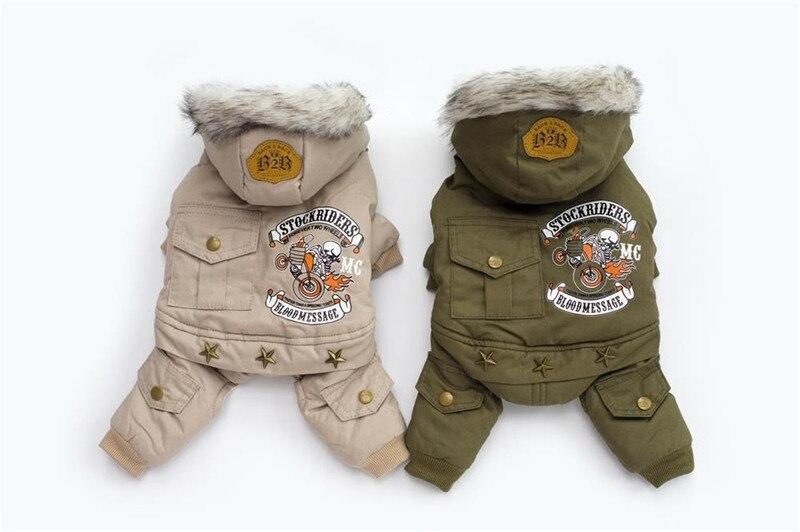 Высококачественная зимняя теплая одежда для собак с капюшоном, утепленное хлопковое пальто для щенков, куртки для чихуахуа, одежда для собак, комбинезон-1