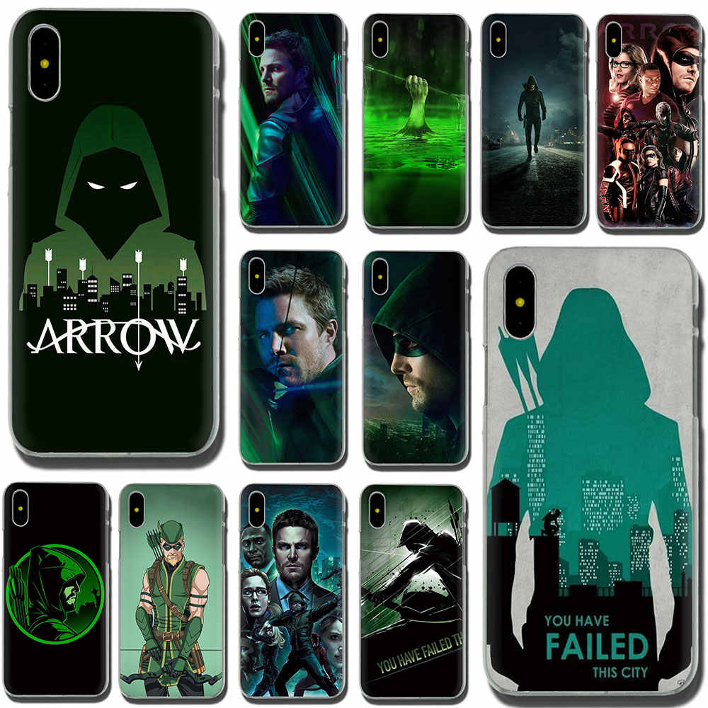 Ewau Green Arrow Hard Telefoon Cover Case Voor Iphone Se 2020 11 Pro 6 6S Plus 7 8 Plus X Xs Xr Xs Max