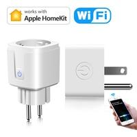 EU UNS Homekit App Smart leben WiFi Smart Steckdose Stecker Siri Stimme Control Steckdose Fernbedienung Timing Für Apple IOS keine Hub Erforderlich