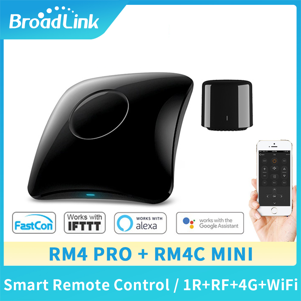 Broadlink RM4 Pro RM4C Mini 2020Universal Intelligent Remote Controller Smart Home Automation WiFi+IR+RF Switch For IOS Android