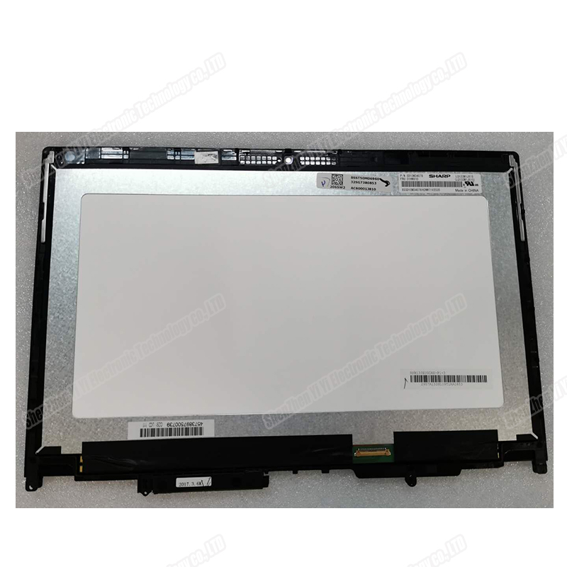 For Lenovo Thinkpad Yoga 370 13 370-13 LCD Display Touch Panel Screen Digitizer Assembly with Frame