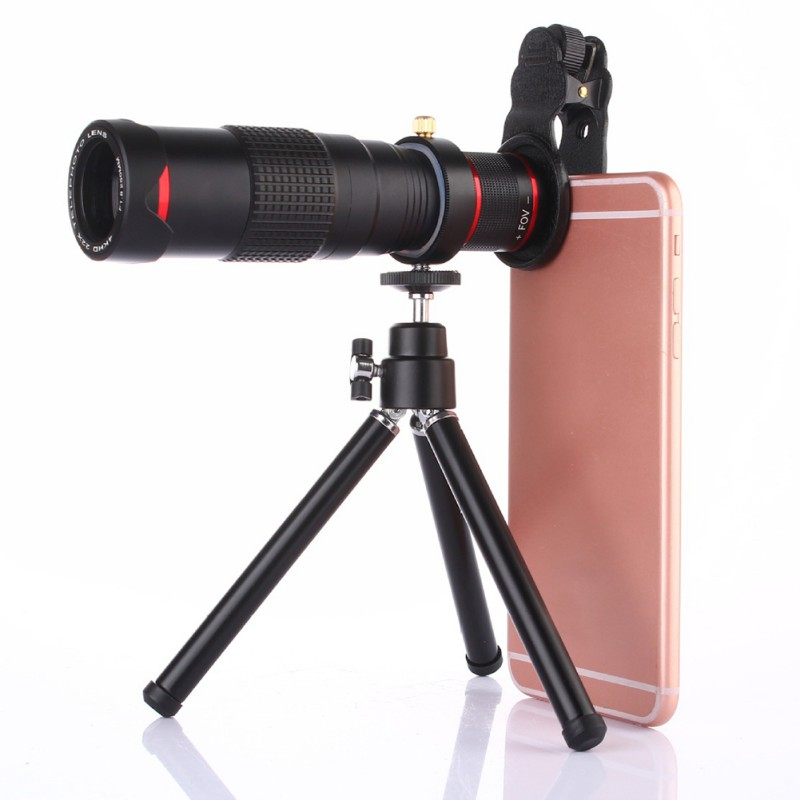 22 Times Phone Long Telephoto Lens Universal Outdoor Photo Shoot External Lens With Tripod Hot|Mobile Phone Lens| |  - title=