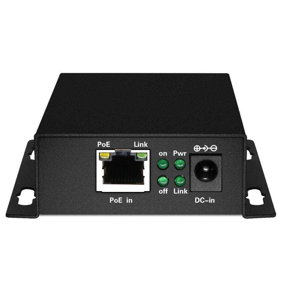 POE extender 1 input 2 output 10/100/1000M active POE 802.3af/at or passive 48V compliant 2