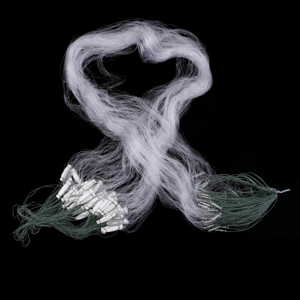 15m x 1.2m balıkçılık Net tek örgü naylon solungaç Net dayanıklı aksesuarlar şamandıra tuzak Monofilament solungaç tek katmanlı balıkçılık takımları