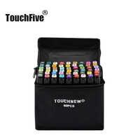 Juego de bolígrafos TouchFIVE, 30 40 60 80 168 colores, dibujo animado, Alcohol, Alcohol, rotulador de color (marcador negro)