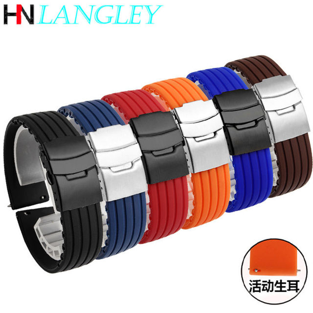 20mm 22mm Quick Release Silicone Watch Bands For Samsung Active 43mm 47mm for Fossil Watch Strap 18mm 24mm Rubber Sport Bands 3