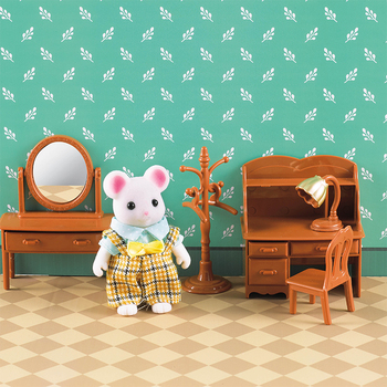 1:12 Forest Animal Family Villa Furniture For Dolls Toy Forest Home Mini Bedroom Set  DIY Miniatura Dollhouse Furniture For Kids