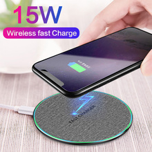15W/10W Qi Wireless Charger For iPhone 11 Pro XS XR X 8 Protable Fast Charge For Samsung S9 S10 Note 9 8 Wireless Charging Mat