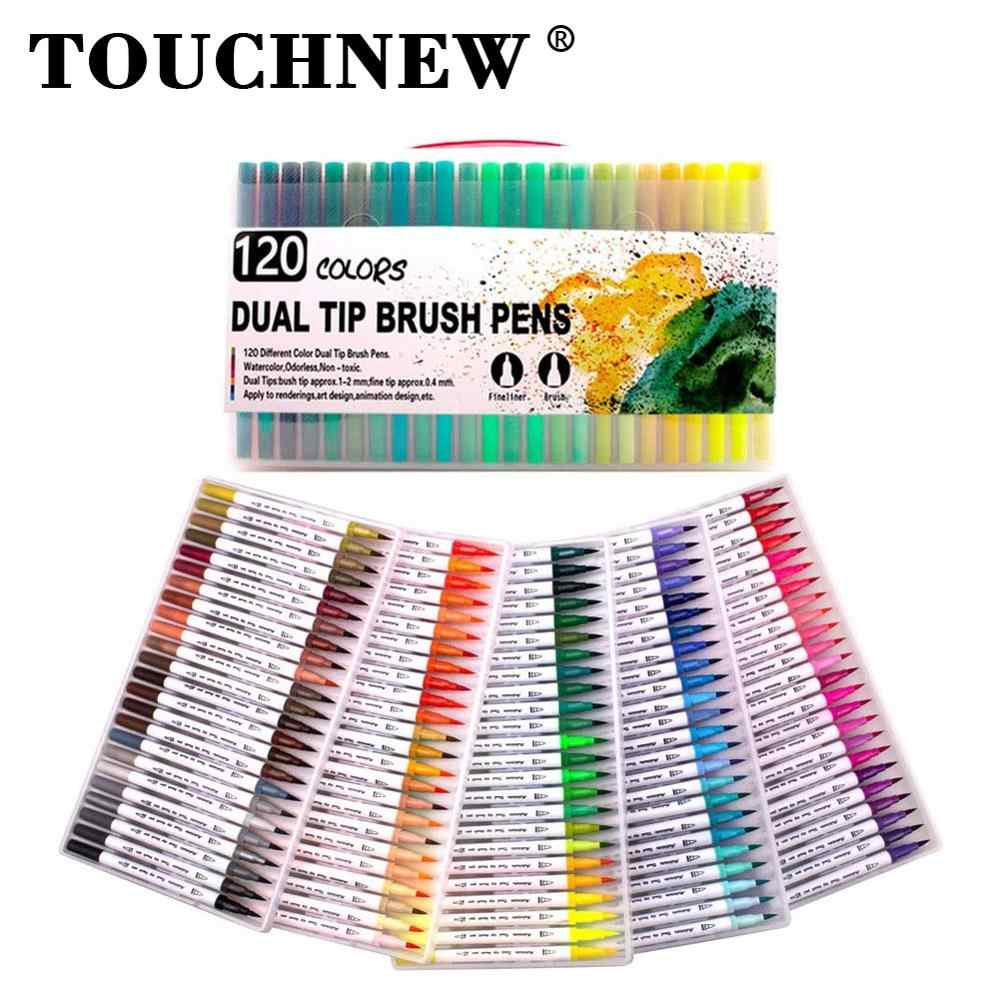 Bullet Journal Manga and Comic Illustration Sketching Dual Brush Pens 36 Colouring Pens with Felt Tip and Fineliner Tip for Kid and Adult Coloring Book
