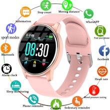 Reloj inteligente para mujer, reloj inteligente en tiempo Real, Monitor de actividad, Monitor de ritmo cardíaco, reloj inteligente deportivo para mujeres, reloj inteligente para hombres para Android IOS