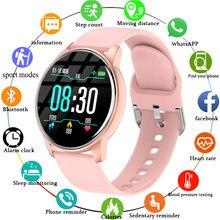Reloj inteligente deportivo para hombre y mujer, pulsera con Monitor de ritmo cardíaco y predicción del tiempo en tiempo Real, para Android IOS