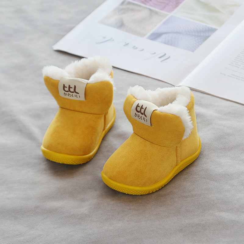 Winter 2020 New Children's Shoes Soft Bottom Baby Boots Toddler Shoes Padded Warm 1-4 Years Old Baby Shoes Non-slip Comfortable