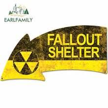 EARLFAMILY 13cm x 14cm para VINTAGE SIGN Fallout Shelter Arrow pegatinas de motocicleta DIY de moda adecuado para VAN RV pegatinas de coche
