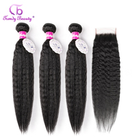 Натуральные волосы для наращивания, 3 пучка, 4x4 дюйма, 3 шт.