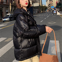 Solid Hooded Solid Thickening Pocket Parka Jacket Winter Padded Coat 2019 New Women Warm Cotton Womens Overcoat Casaco Female