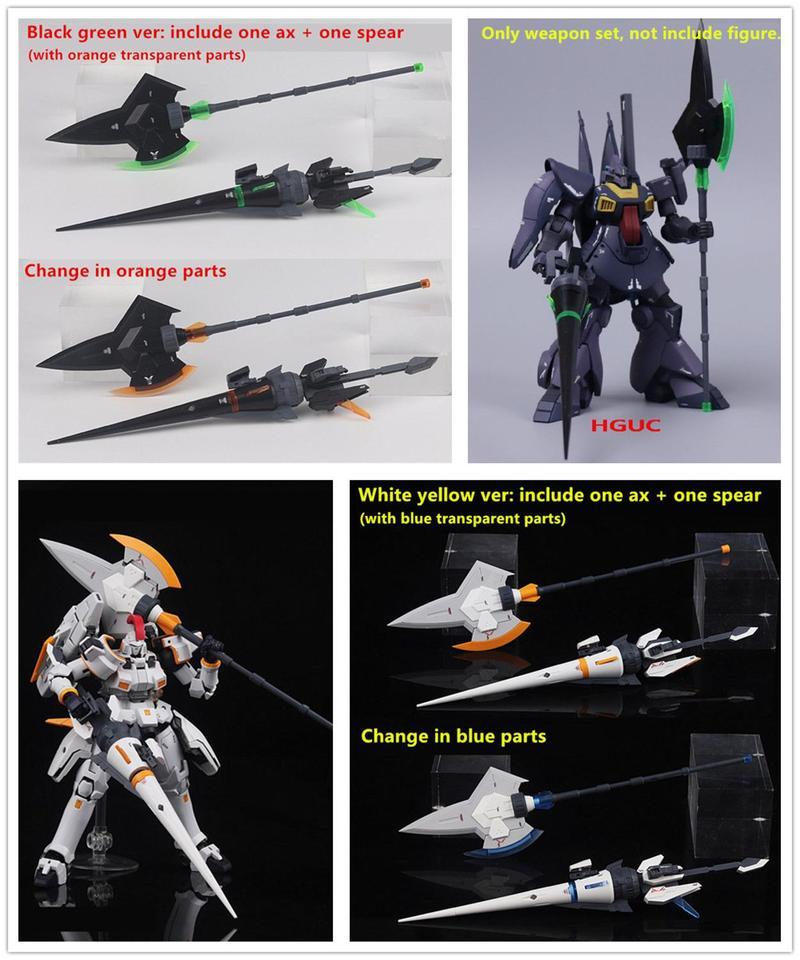 for HG RG 1//144 Crossbone Gundam X1 Tallgeese D.L Tempest Heat Lance Halberd Set