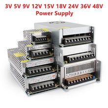 Transformateur de puissance 5V 12V 24V, 220V 12V 1A 2A 3A 5A 10A 15A 20A 3V 5V 9V 15V 18V 24V 36V 48V, convertisseur 220V à 110V