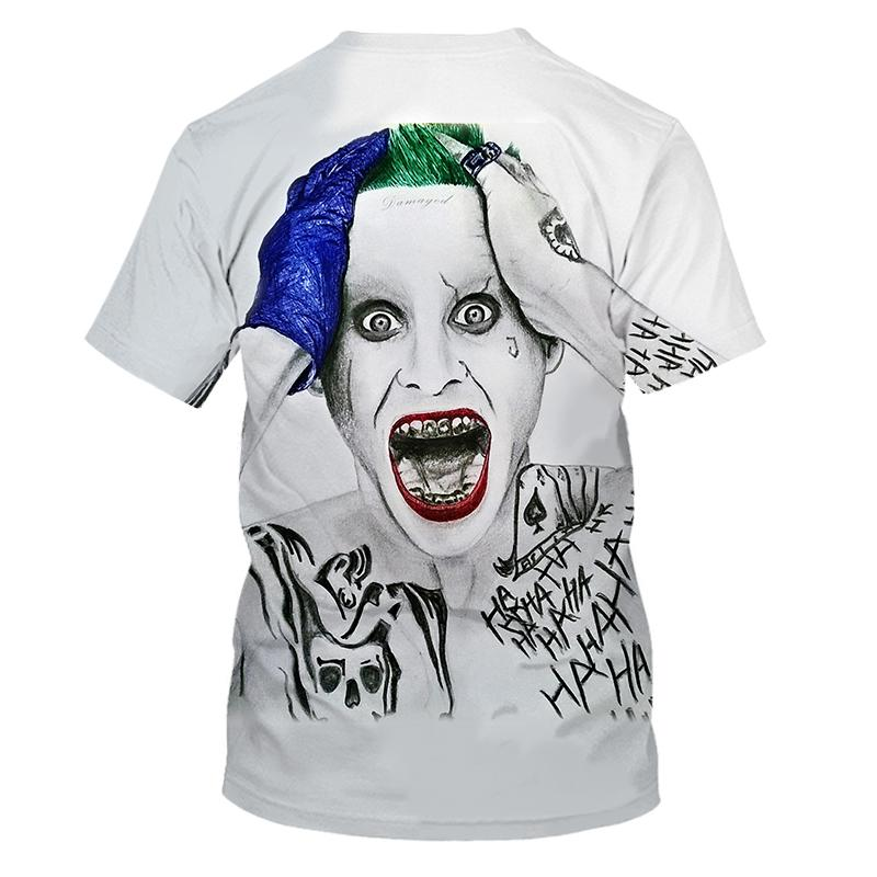 Summer 2020 white all-match 3D printed T-shirt men's all-match clown casual men's and women's T-shirts Fun and interesting T-shi