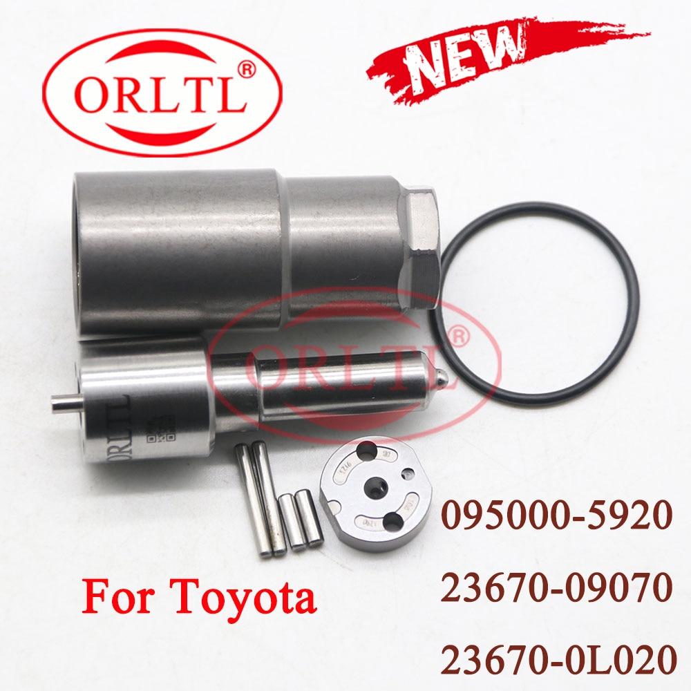 ORLTL 23670-0L050 Набор для ремонта инжектора DLLA155P863 (093400-8630) для Denso Toyota Hilux 2kd 1kd 095000-8650