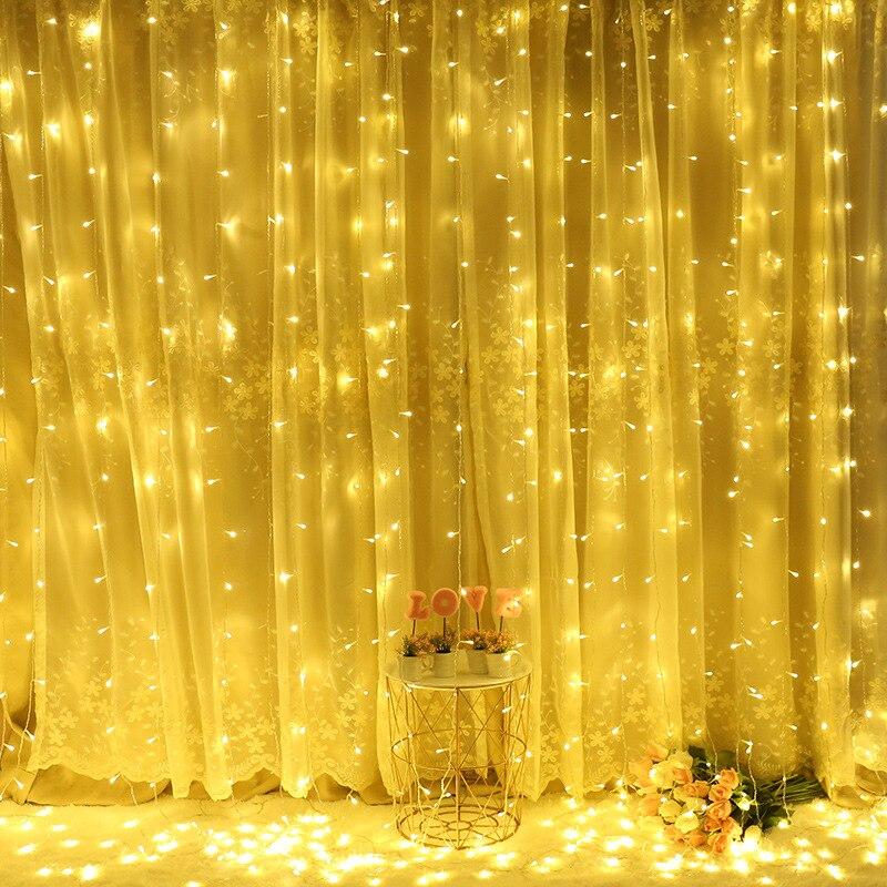 2x2/3x1/3x2/3x3m Led Wedding Fairy String Light Christmas Light 300 Led Fairy Light Garland For Garden Party Curtain Decoration.
