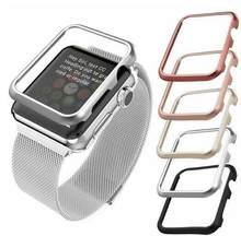 Mais novo de alta qualidade caso capa para apple watch band 42mm 38mm 40mm 44mm para iwatch se 6 5 4 3 2 1 moldura de metal caso protetor