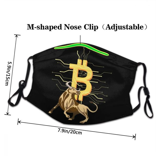 Bitcoin Bull Reusable Unisex Adult Mouth Face Mask BTC Crypto Currency 3
