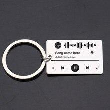 Flyangel gravar scannable music player chaveiro personalizado seu código de música favorito casamento personalizado, aniversário, presente de natal