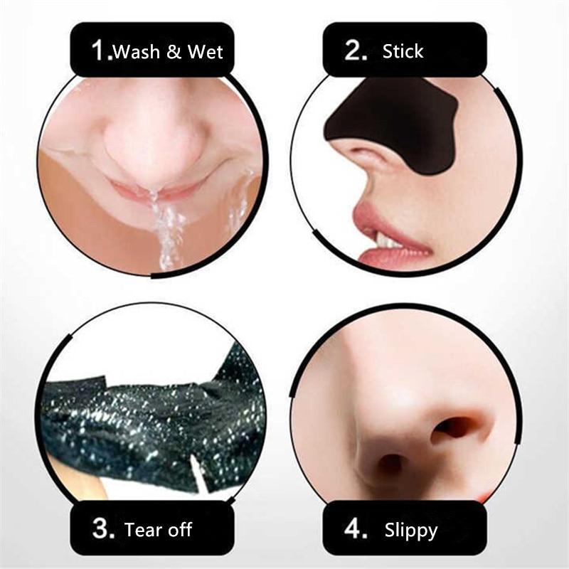 50pc maskë për heqjen e pikave të zeza me qymyr bambu pika të - Mjet për kujdesin e lëkurës - Foto 4