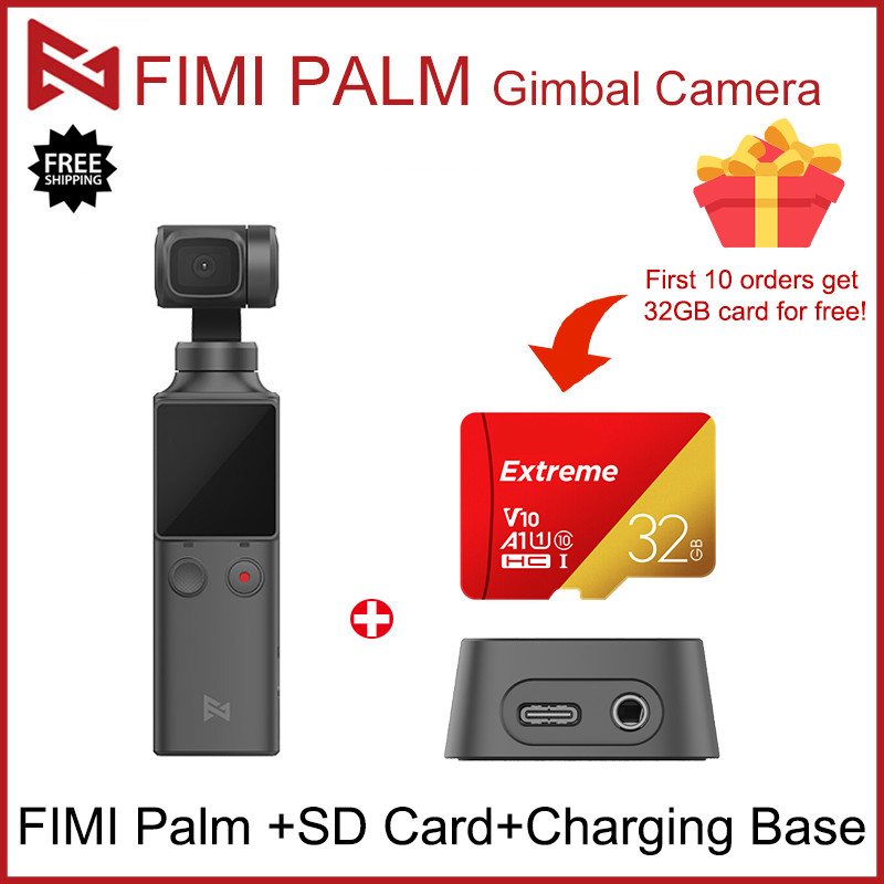 Wholesale!FIMI PALM 3-Axis <font><b>4K</b></font> HD Handheld <font><b>Gimbal</b></font> <font><b>Camera</b></font> Stabilizer 128° Wide Angle Smart Track Built-in WiFi Handheld <font><b>Camera</b></font> image