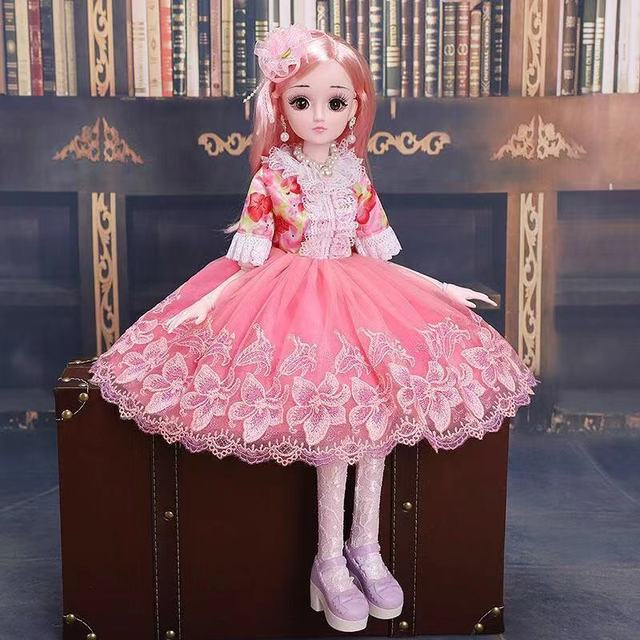 1 3 60cm 20 Movable Jointed BJD Doll Toy Fashion 3D Eyes Dolls With Clothes Jewelry