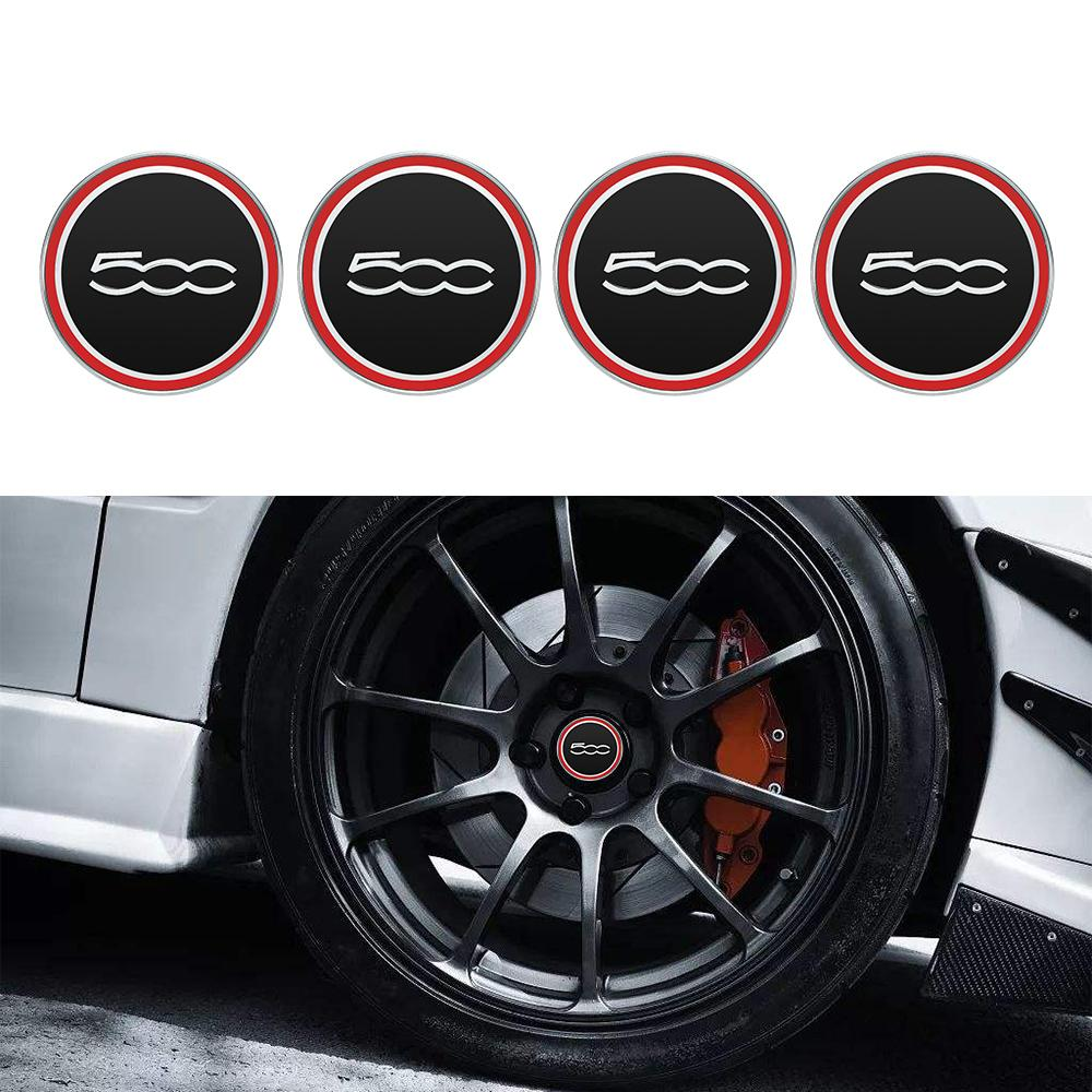 4PCS 60MM Car Wheel Center Hub Cap For Fiat 500 5CC Vehicle Tyre Rim Hub Wheel Center Cap Cap Cover Auto Decoration Accessories