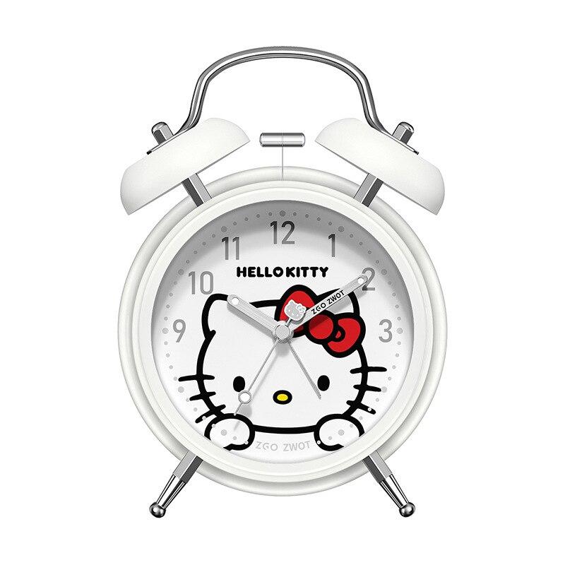 Hello Kitty Студент Креатив Личность Мультфильм Спальня Будильник Часы Мальчик Девочка Прикроватная тумбочка Без звука Светящийся Большой Рингтон Ленивый Простой