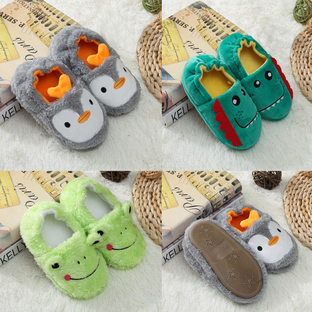 MUQGEW Print Cartoon Slippers Shoes 2019 New Toddler Infant Kids Baby Warm Shoes Boys Girls Soft-Soled Slippers Sapato Infantil
