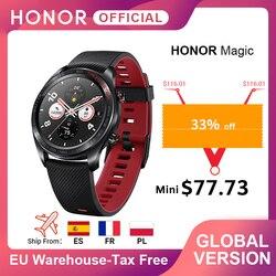 Versión Global, reloj mágico de Honor, reloj inteligente, ritmo cardíaco, rastreador de sueño a prueba de agua, rastreador GPS, llamada telefónica de trabajo para Android iOS