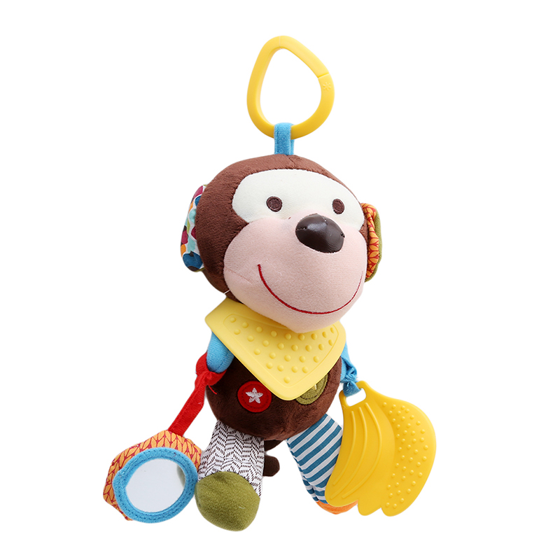 New Animal Style Baby Rattles Mobile Bed Hanging Toys Wind Chimes Ringing Hand Bell Baby Rattle Classical Plush Toys