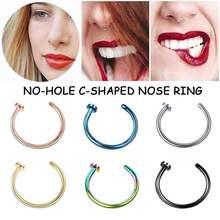 1 шт поддельное кольцо для носа губ без отверстия пирсинг Бурун