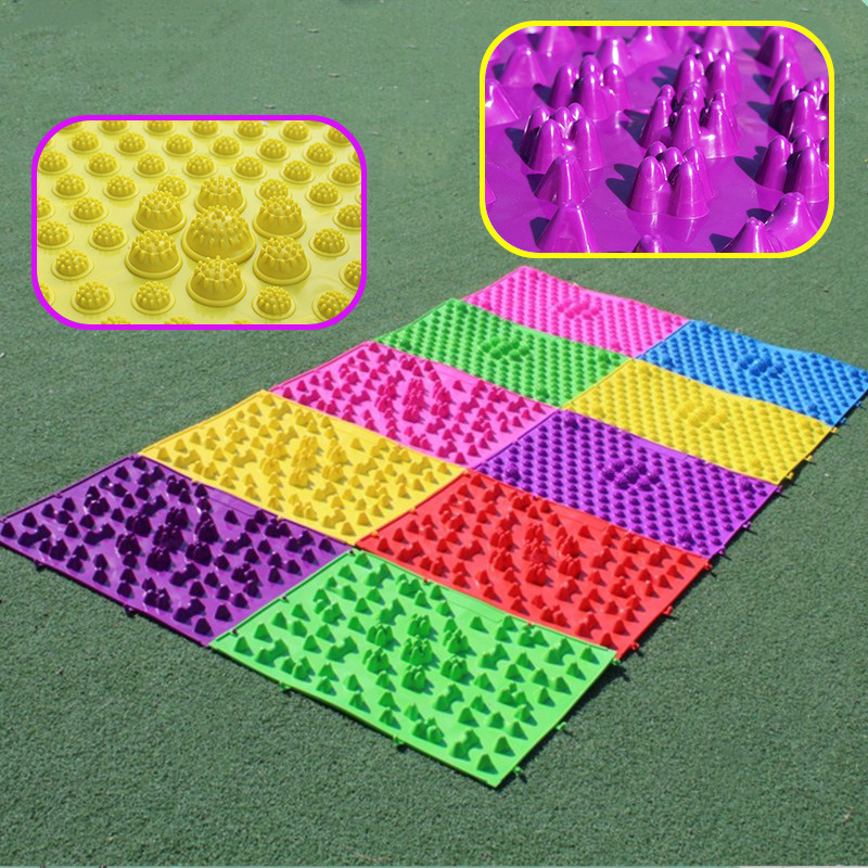 Anti-slip Bath Mat Reflexology Foot Massager Children Sensory Integration Training Foot Massage Pad Adult Toe Pressure Mat