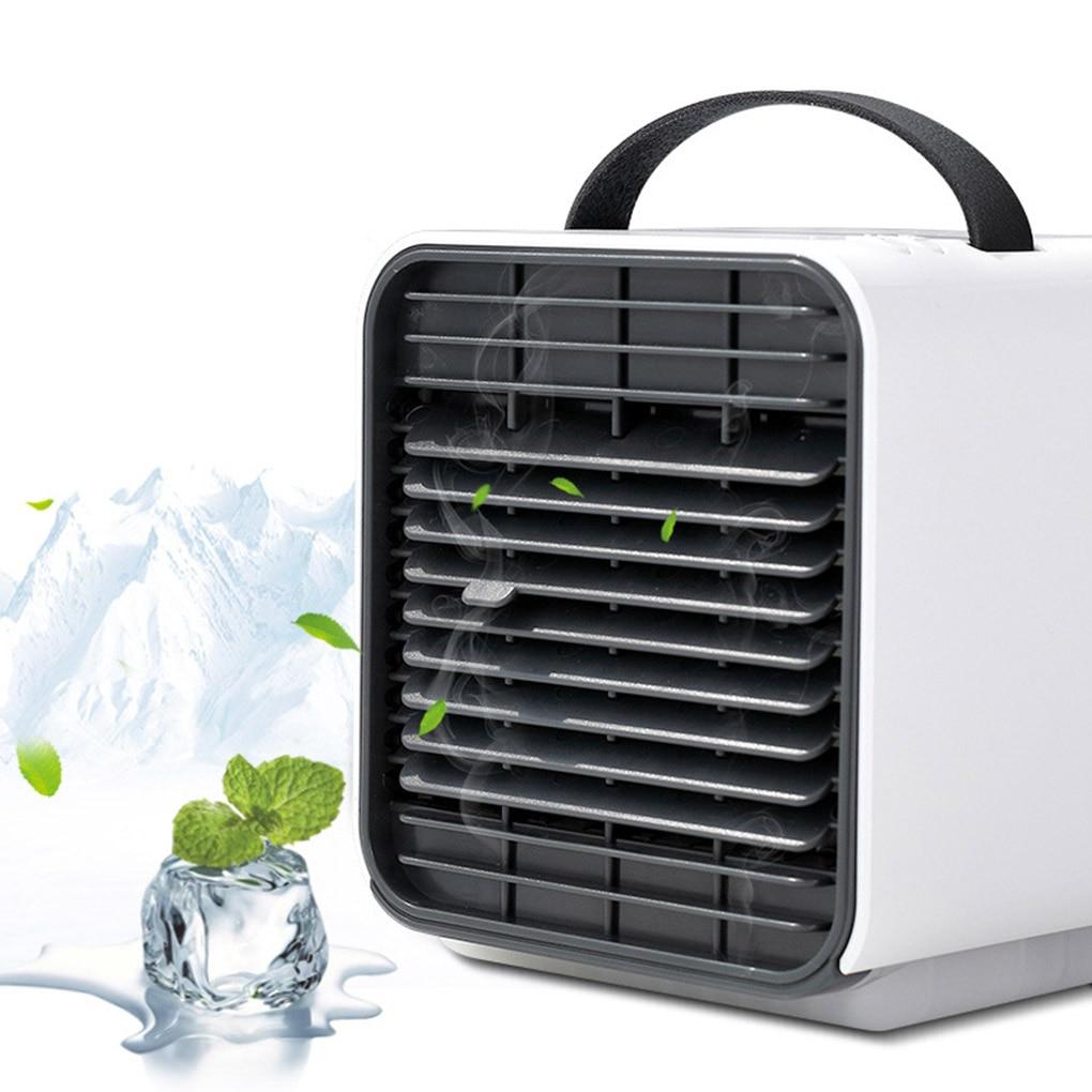 Mini Air Cooling Fan Portable Desktop USB Powered Rechargeable Negative Ion Mini Electric Fan