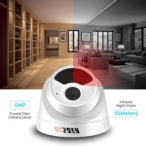 Image 3 - BESDER H.265 1080P 3MP 5MP Security Camera Indoor Dome IP Camera Audio Built in Microphone 48V PoE P2P ONVIF Email Motion Detect