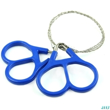 цена на Outdoor Scroll Steel Wire Saw Emergency Travel Camping Hiking Survival Tool #319