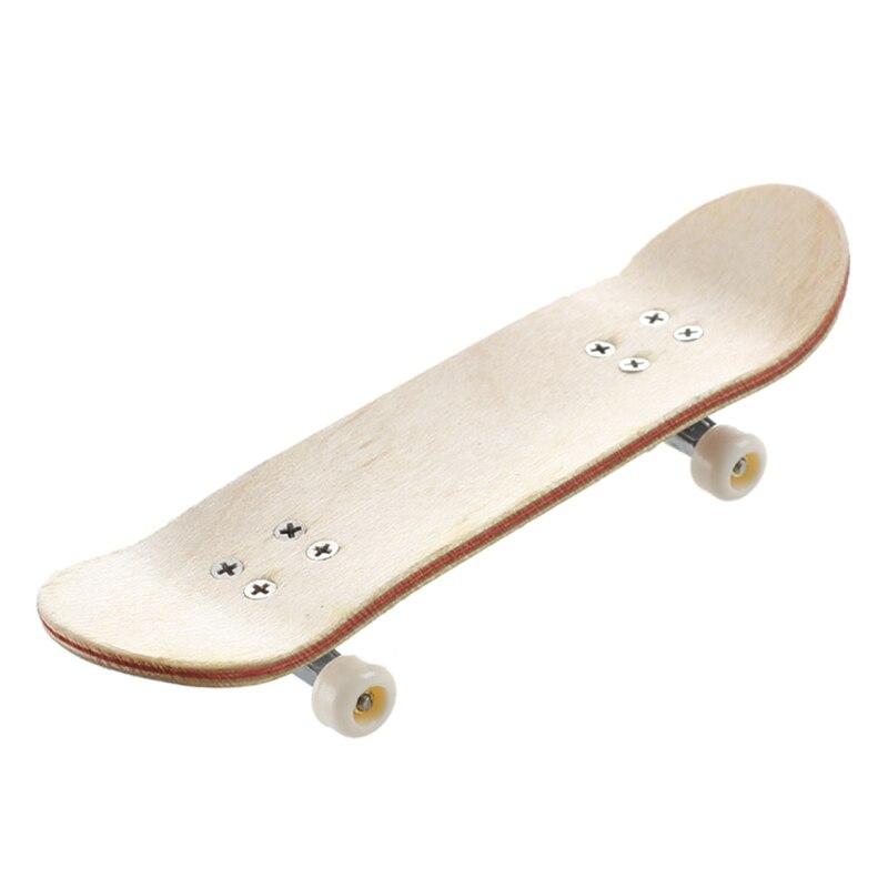 HT00640  Fingerboard Finger Skate Board + Screwdriver Random Pattern
