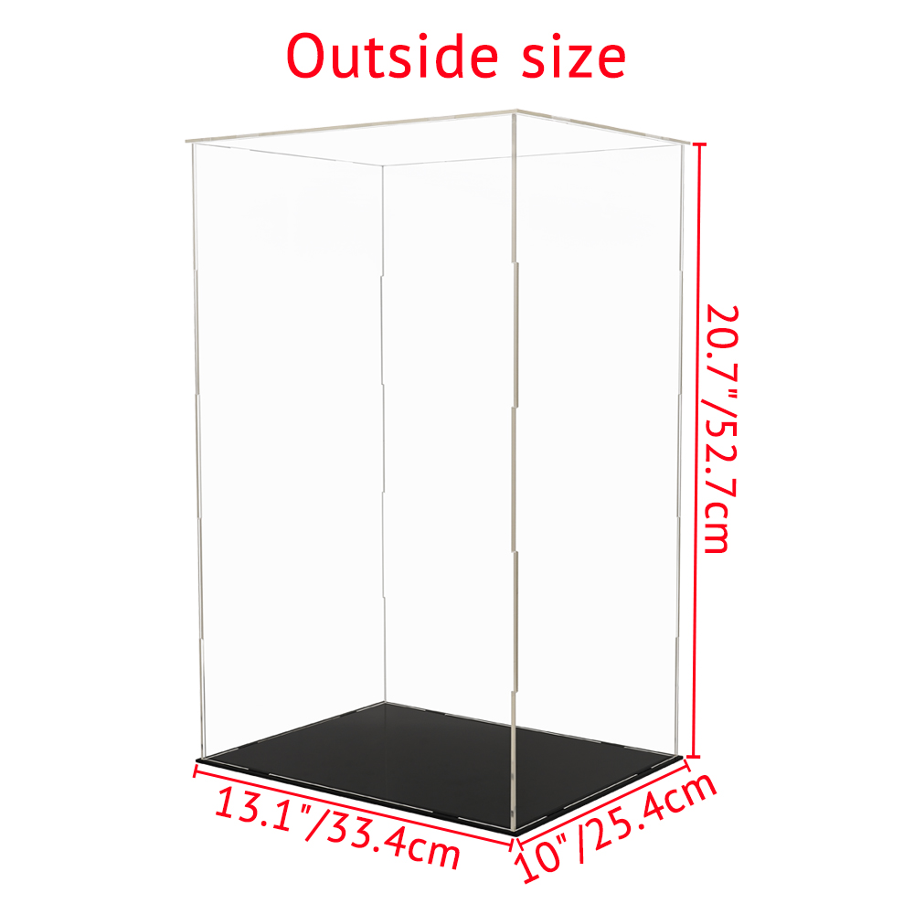 Odoria Clear Acrylic Display Case 52cm H Self Assembly Perspex Box Dustproof