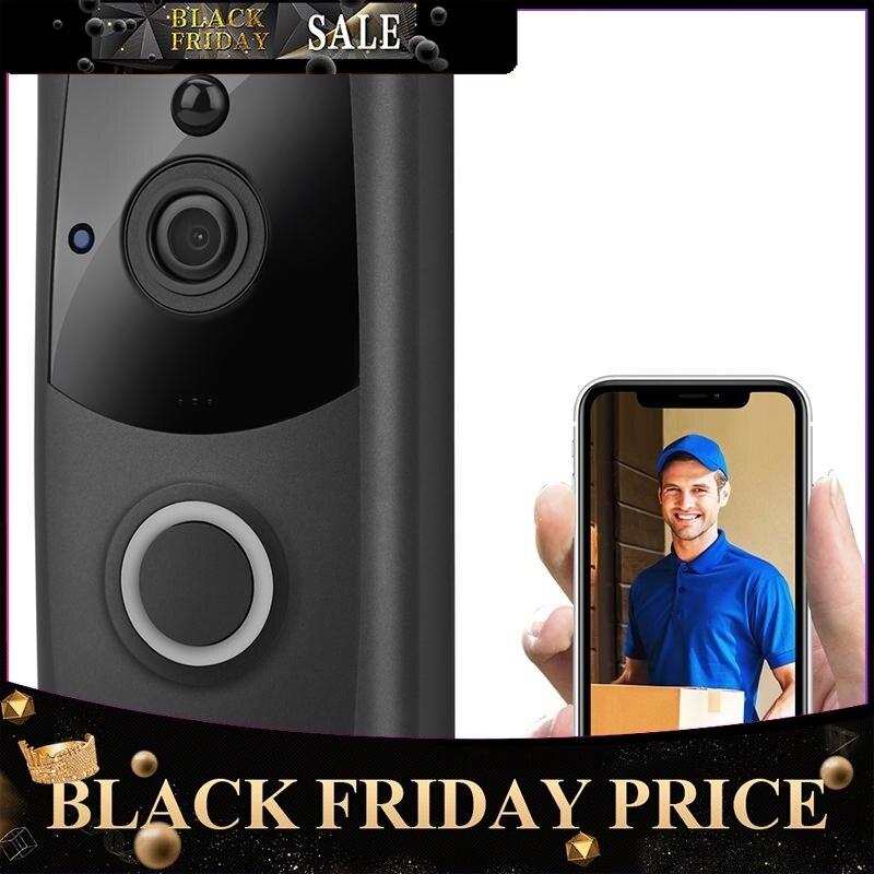 2020 Wireless Smart WiFi DoorBell IR Video Visual Ring Camera Intercom Home Security Doorbell Camera Night Vision R30