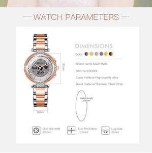 Image 3 - KADEMAN kobiety zegarki LCD luksusowe nowe prezenty pani cyfrowy zegarek moda dziewczyna TOP marka bransoletka elegancki kobiet biznesu zegarek