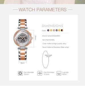 Image 3 - KADEMAN montre de luxe pour femmes, montre Bracelet LCD, numérique, élégant, de marque, à la mode, pour filles, nouvelle collection de cadeaux