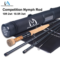 Maximumcatch 2/3WT Competition InTouch Nymph Fly Rod IM12/40T+46T Carbon Fiber 10/10.5FT Moderate Euro Nymphing Fly Fishing Rod
