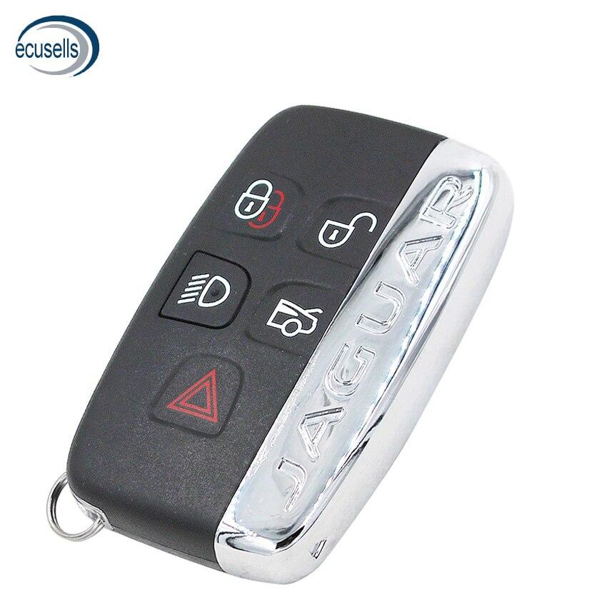 5 botão inteligente chave remota caso do escudo fob para jaguar xj xjl xf com palavras|Chave do carro|   -