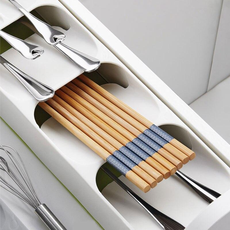 Держатель для ножей Кухня Столовые приборы держатель для ножей Кухня Органайзер Кухонный Контейнер Ложка Вилка для хранения разделительный блок для ножей-1
