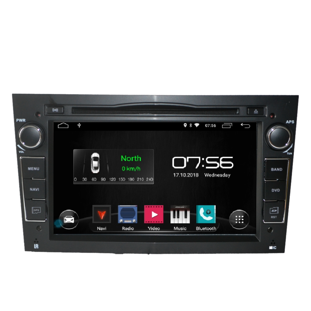 "7 ""Android 9 voiture GPS Navigation radio 2din DVD pour opel astra h, zafira, vectra bluetooth, volant, écran tactile"